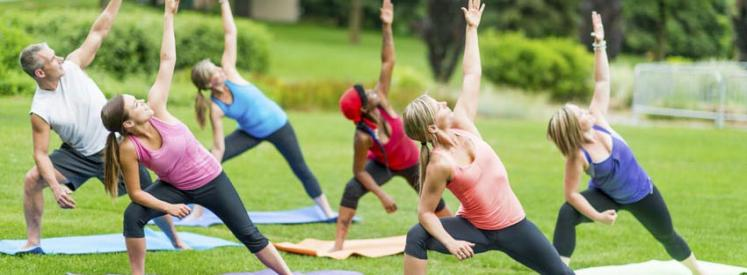 coverStretching Yoga outdoor